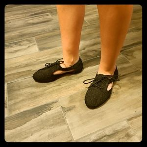 Qupid flats with lace design.